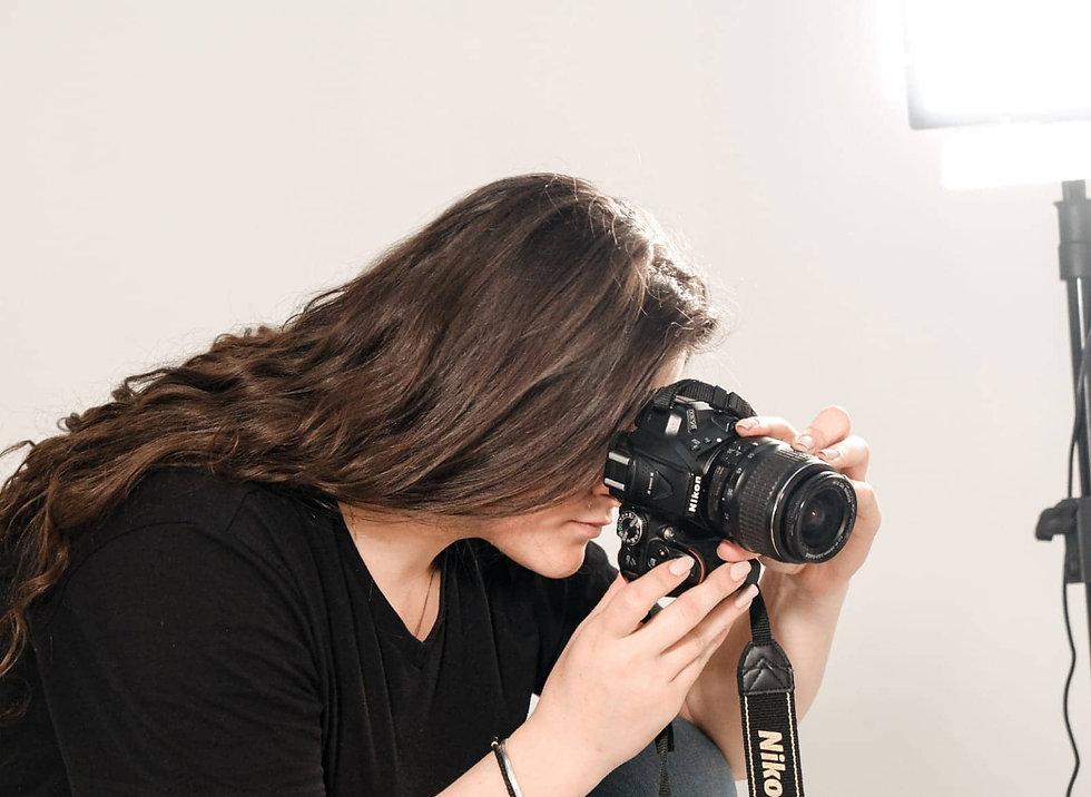 Tinica Anthula with Nikon Camera