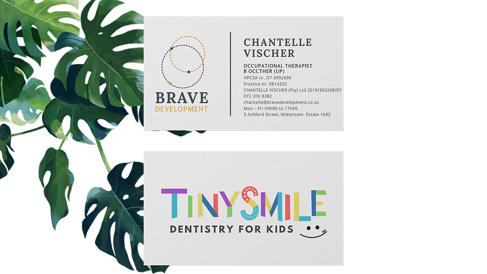 Business card Brave and Tinysmile