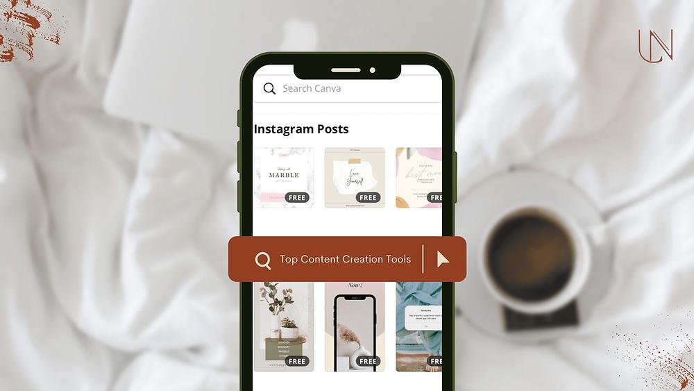Canva Mockup with Instagram Posts Design