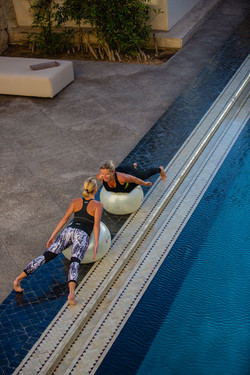 Le Palais Rhoul Dakhla | hotel spa | Swiss ball en binôme