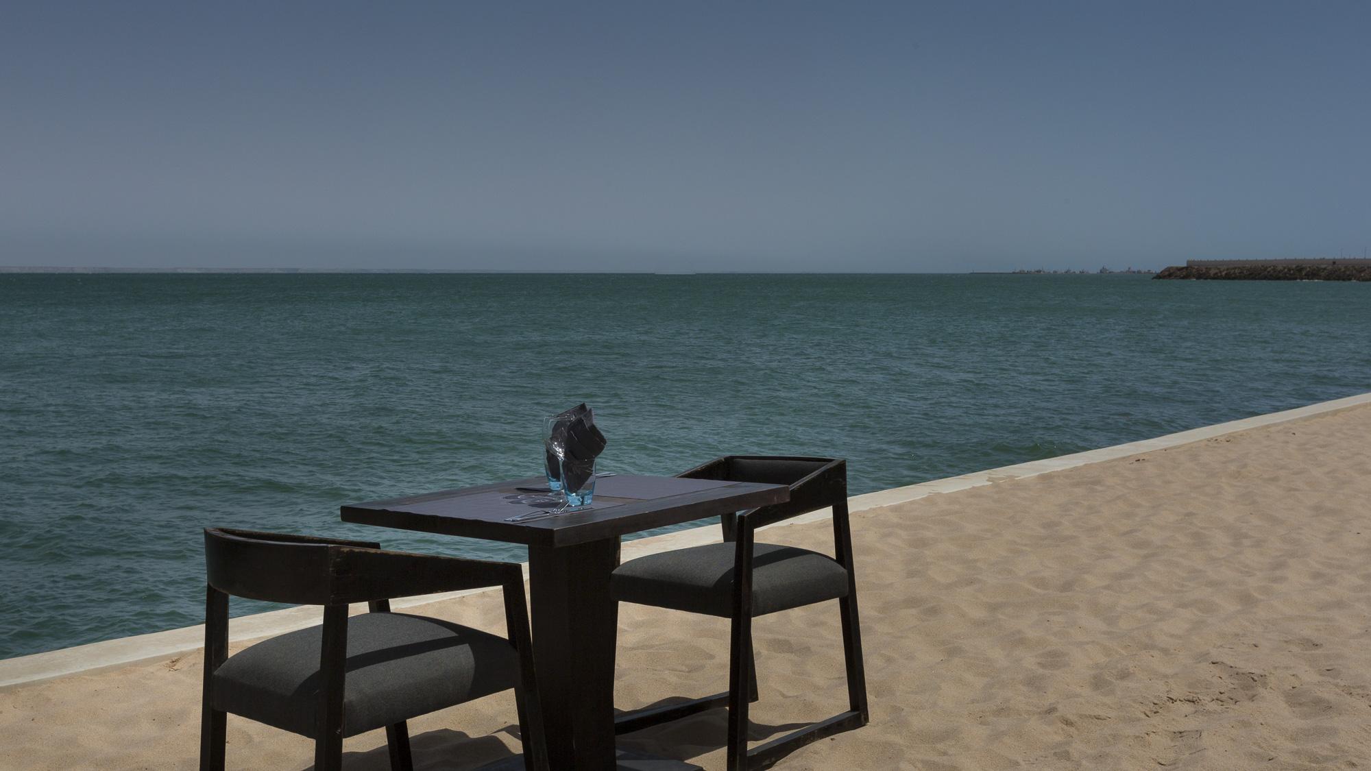 Le Palais Rhoul Dakhla | hotel spa | déjeuner vue mer