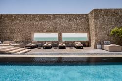 Le Palais Rhoul Dakhla | hotel spa | piscine et transats