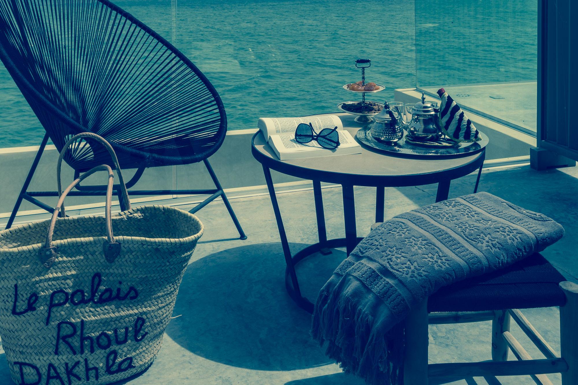 Le Palais Rhoul Dakhla | hotel spa | Thé à la menthe vue mer et désert
