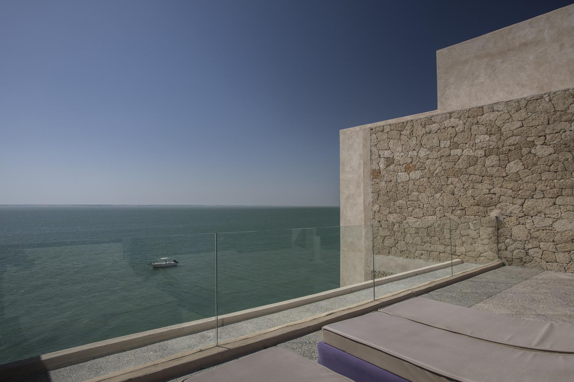 Le Palais Rhoul Dakhla | hotel spa | terrasse vue le grand désert