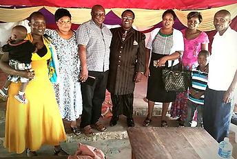 Reverend Zephania and memebes of Kilifi church in Kenya