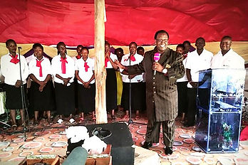 Reverend Zephania ministering the Word to a church in Kilifi, Kenay Coast