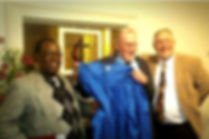 Choir robes donated by Hiram UMC in America