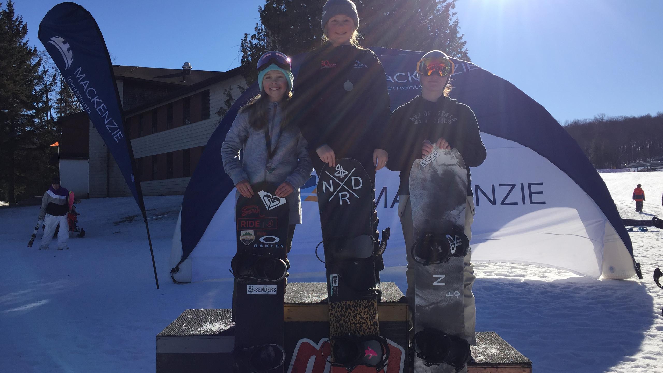 Girls Amateur podium