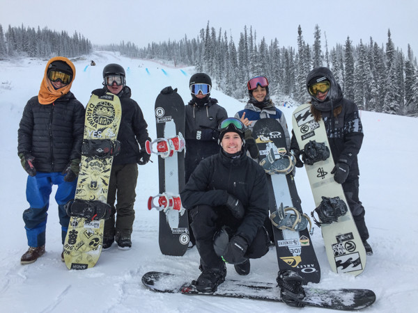 The Senders getting a group shot after a private jump session with Max Parrot