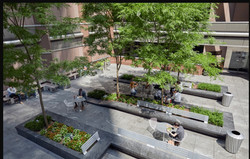 NYC Plaza birdeye view