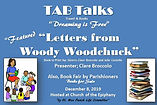 Woody Woodchuck and Book Fair Dec, 2019.