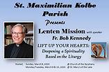 Lenten Mission 2020 speaker      Fr. Ken