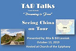 TAB Talks Cover pictures Seeing China on
