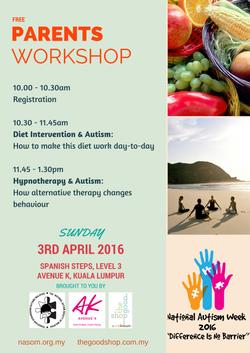 Autism Workshop 3 April 2016