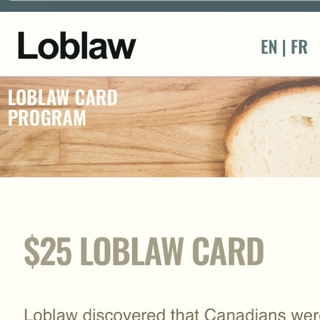Action: Get your $25 Loblaws card & donate it!