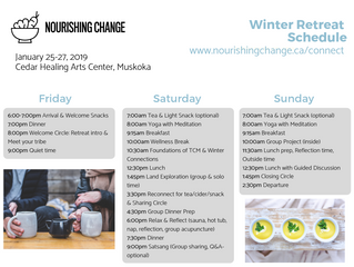 Winter Retreat Schedule