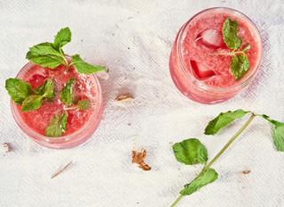 Raspberry Mint Agua Fresca