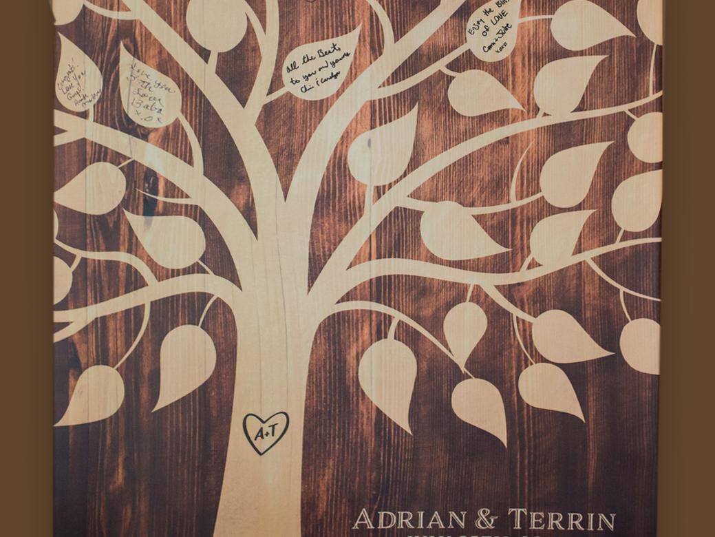 Custom Designed Wishing Tree Canvas