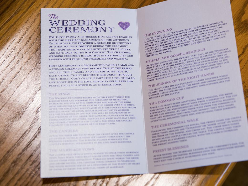 Custom Designed Ceremony Program 2