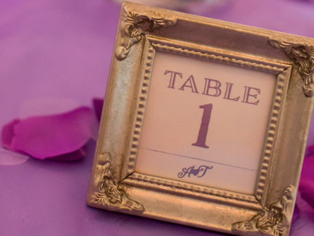 Custom Designed Reception Table Numbers