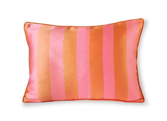 Satin/velvet cushion orange/pink (35x50)