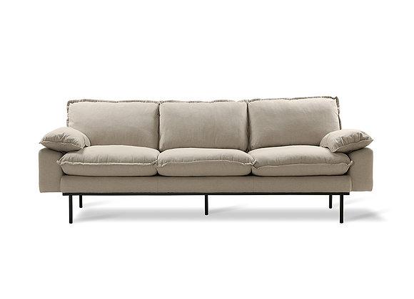 3-seater sofa beige