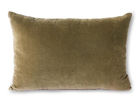 Velvet cushion army (40x60)