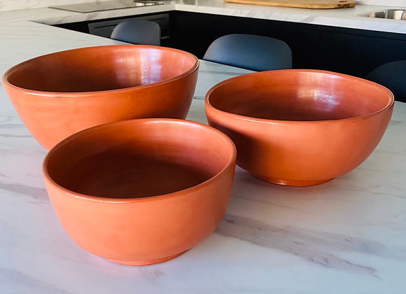 Saladier Terracotta set van 3