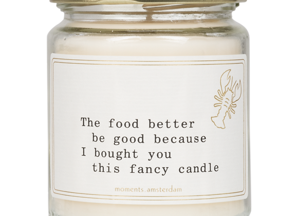 Medium scented candle 'Food'