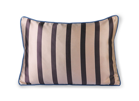 Satin/velvet cushion brown/taupe (35x50)