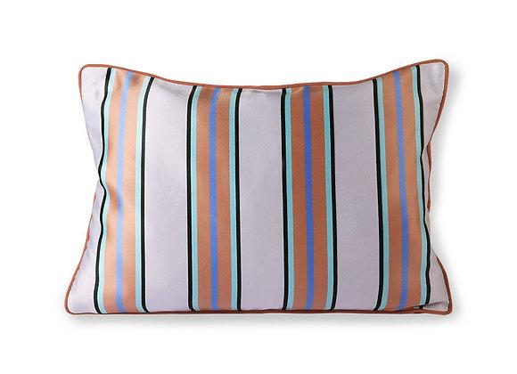 Satin/velvet cushion orange/blue (35x50)