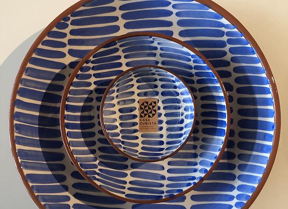 Set of 3 Stripe Pattern Bowls