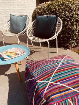 Pouf Jolie & Velvet Cushions