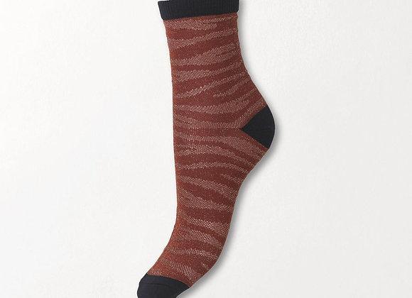 Zebra Glitzi Socks