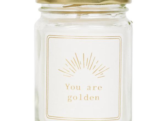 Mini scented candle 'You are golden'