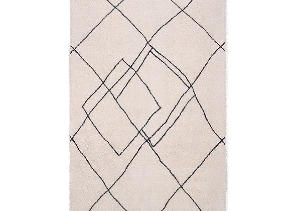 Handwoven zigzag rug (150x240)