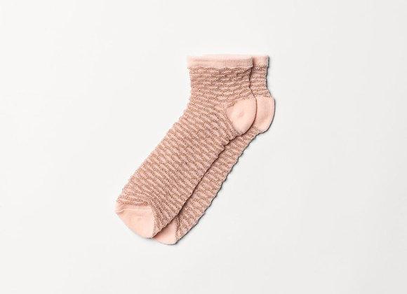 Waffle Dollie Socks Peach