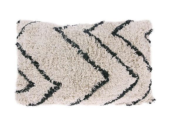 Cotton zigzag cushion (40x60)