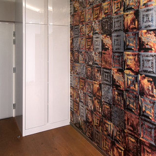 dekoračná tapeta značky CASAMANCE zatraktívňuje vstupný priestor bytu - je dôležitá pre prvý dojem pri vstupe