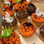 assorted hallow cupcakes