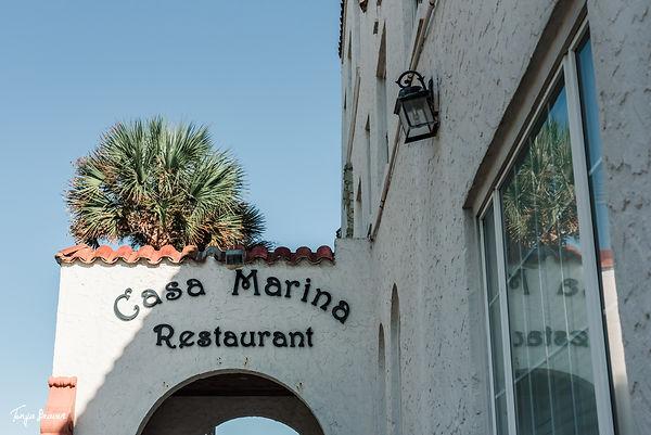 Side entrance of Casa Marina