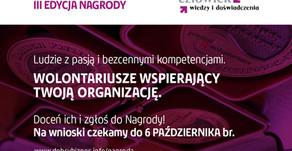 """Ruszyła III edycja Nagrody """"Człowiek wiedzy i doświadczenia"""""""