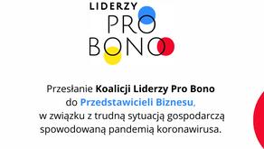 Przesłanie Koalicji Liderzy Pro Bono do przedstawicieli biznesu