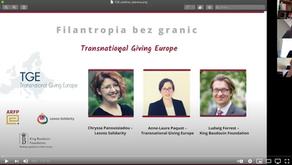 Transnational Giving Europe - webinar promujący ideę filantropii ponad granicami!
