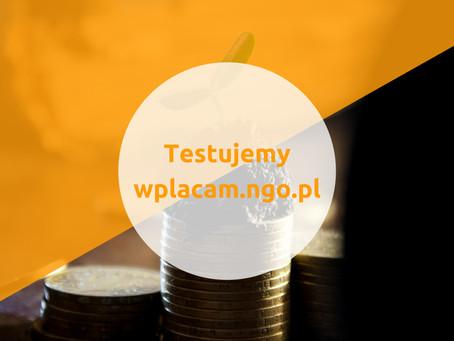 Testujemy mechanizm wplacam.ngo.pl