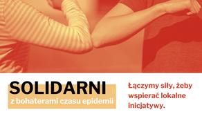 """""""Solidarni z bohaterami czasu epidemii""""– rusza pilotażowe przedsięwzięcie programu """"Działaj Lokalni"""