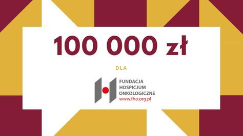 Przekroczyliśmy 100 000 zł!