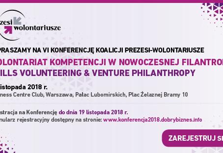 VI Konferencja Koalicji Prezesi-wolontariusze już 27 listopada