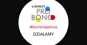Liderzy Pro Bono wspierają walkę z epidemią