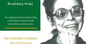 Ruszyła VIII edycja Konkursu im. Inki Brodzkiej-Wald